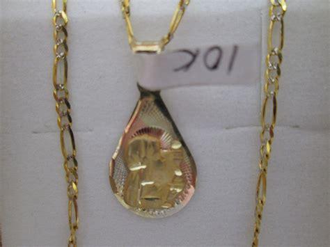 cadena de oro 10 kilates precio mexico cadena y medalla primera comunion oro 10 kilates mod 1