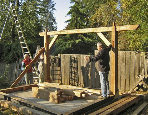 How To Build A Post And Beam Shed by Wood Shed Post And Beam Tuff Shed Door Options