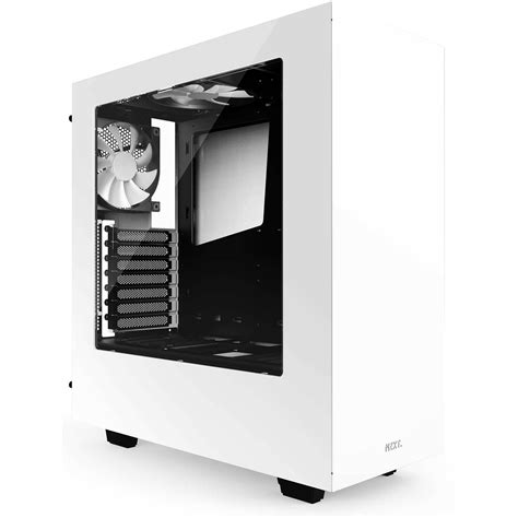 Nzxt S340 White nzxt s340 mid tower chassis white ca s340w w1 b h photo