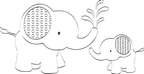 printable pictures elephants easy elephant face coloring pages