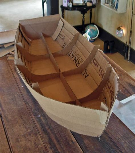 How To Make A Big Boat Out Of Paper - card board boat cat bed ideas card