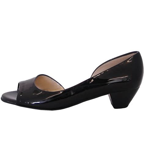 toe shoes kaiser itha low heel open toe shoes in black