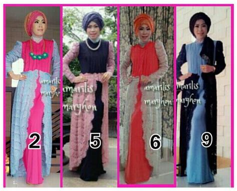 Promo Gamis Syari Fatma Biru Salem Busana Muslim Modern busana muslim koleksi terbaru