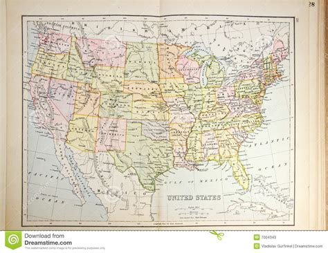 map usa historical historical map of usa stock photos image 7004343