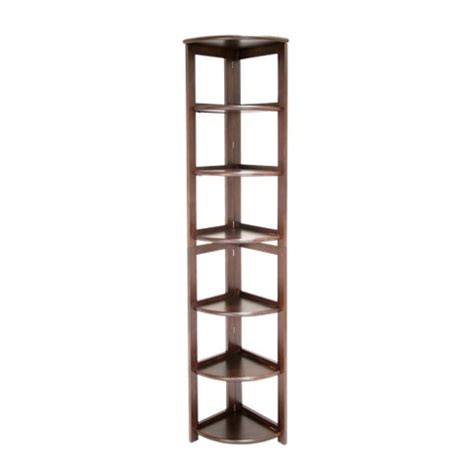 6 shelf flip flop folding corner bookcase moch target