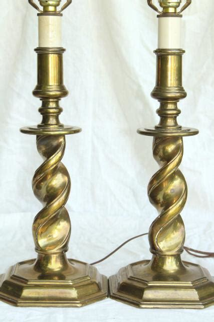 stiffel brass candlestick l vintage stiffel ls barley twist heavy brass