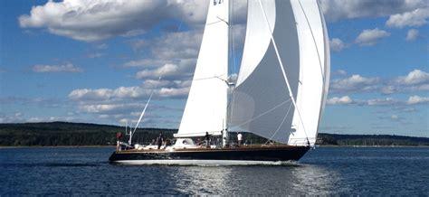 sailing boat yard 70ft luxury yacht sonny by brooklin boat yard under sail