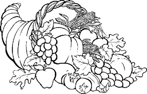 cornucopia basket coloring page cornucopia 04 free printable thanksgiving2 coloring pages