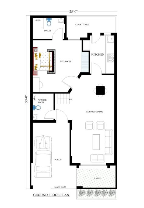 25x50 house plans for your dream house house plans