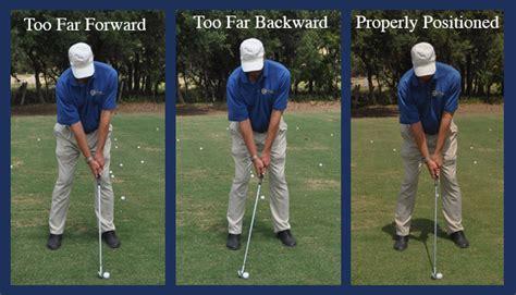 golf swing ball position chuck westergard golf professional golf instruction