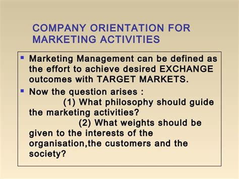 Market Orientation Mba by Mba I Mm 1 U 1 5 Marketing Concepts