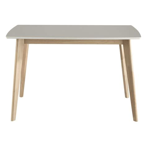 wooden dining table in white w 120cm maisons du monde