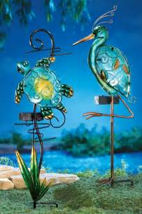Seashore Home Decor solar lighted seashore decorative garden stakes