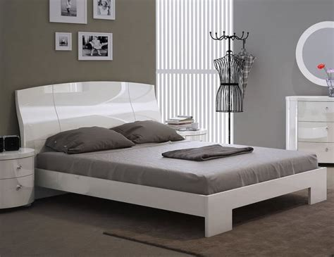 White Gloss Bed Frame Pryce White Gloss Bed Frame