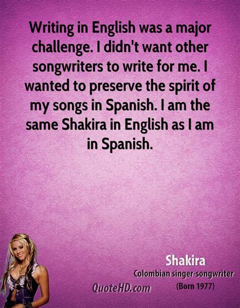 shakira biography in english and spanish shakira quotes quotesgram