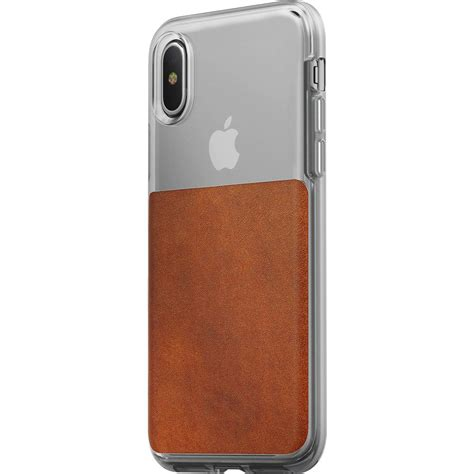 Nomad Wallet For Iphone X nomad for iphone x clear horween brown leather sportique
