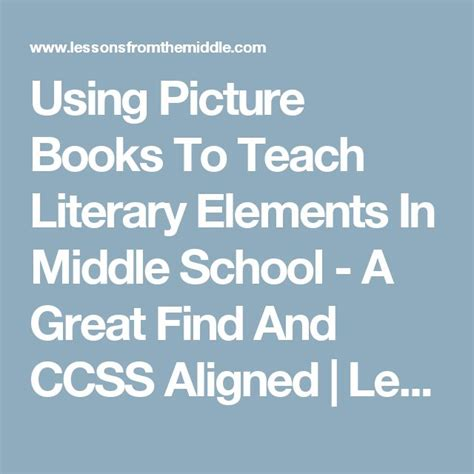 teaching literary elements with picture books best 25 literary elements ideas on literary