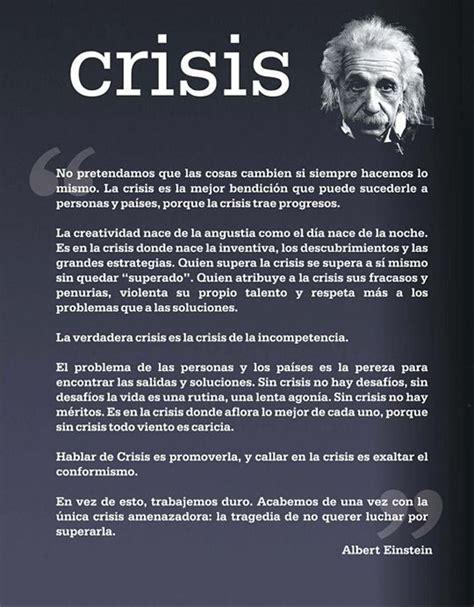 A Fragile Nation The Crisis 1 quot crisis quot por albert einstein crisis einstein desarrollo superacion motivacion crecimiento