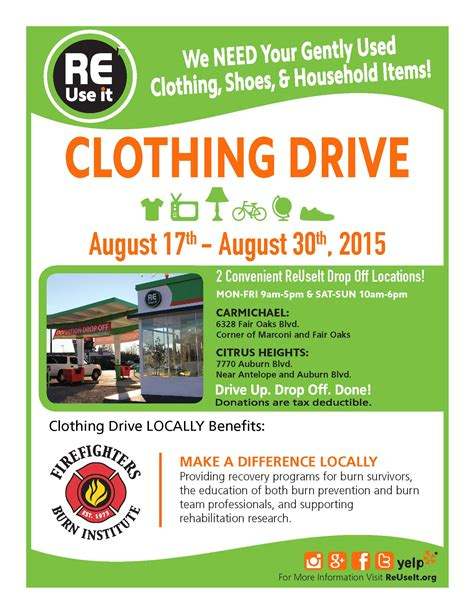 Fundraising Drive Letter clothing donation flyer images search