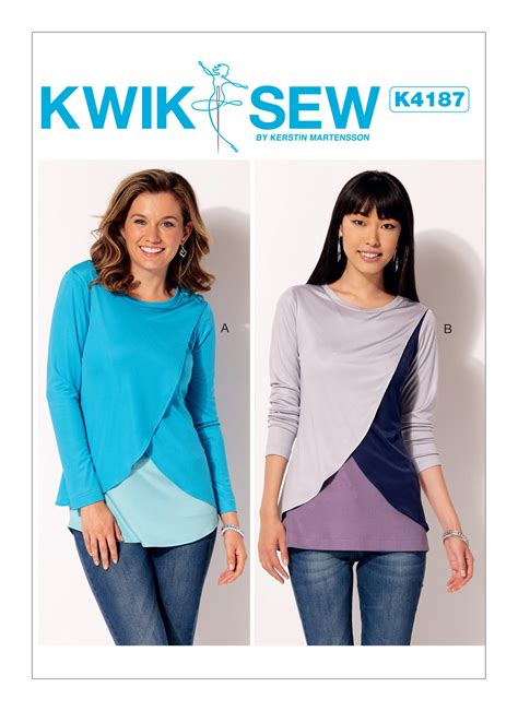 pattern review kwik sew 3601 kwik sew 4187 misses tulip overlay tops
