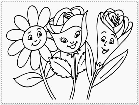 cartoon flower coloring page cartoon spring flower coloring pages coloringsuite com