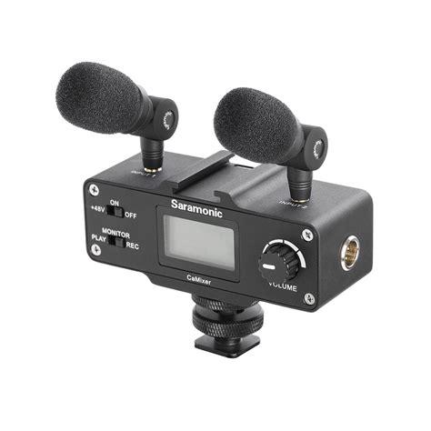 saramonic camixer microphone kit with dual stereo condenser mics digi