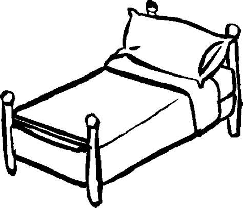 Bed 01 Free Printable Bedroom Furniture Coloring Pages sketch template