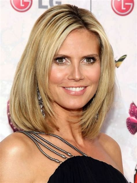 pictures of hide klum long bob 11 heidi klum hairstyles classic hairstyle popular haircuts