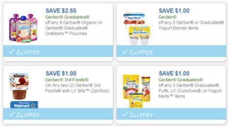 printable baby food coupons new 1 00 off gerber baby food coupon print now