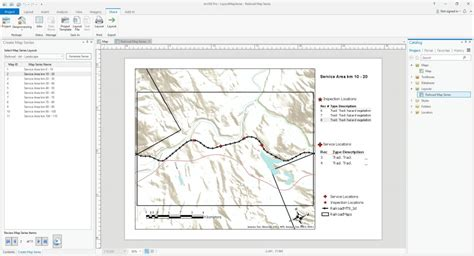 arcgis pro layout grid maps