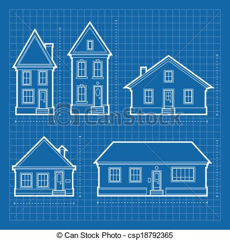 blue prints for a house clip vector of house blueprints blueprint diagrams of a variety of csp18792365 search