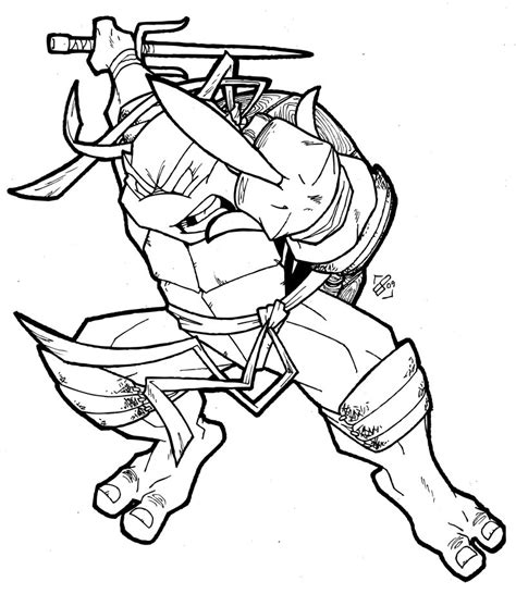 free coloring pages of raphael ninja turtle