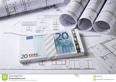 home design money architecture plans with money stock photo image 60258735