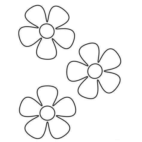 imagenes infantiles para colorear de flores dibujos de flores de 5 petalos para colorear