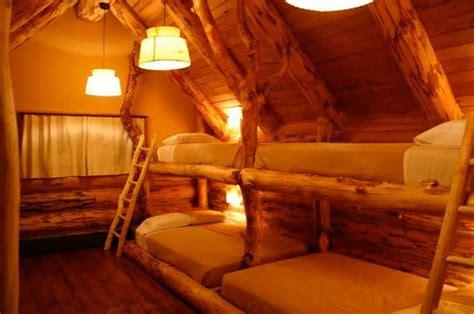 Log Cabin Bunk Beds Log Cabin Built In Bunk Beds Cubby Beds