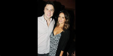 Alba Forced Out by City Alba Visits Zach Braff The High