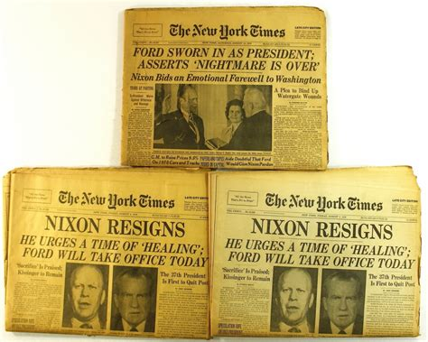 fort times newspaper lot of 3 1974 new york times newspapers with quot nixon