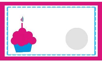 free cupcake template for s card birthday coupon clipart