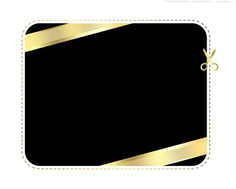 black card template gold and black shopping card template psd psdgraphics