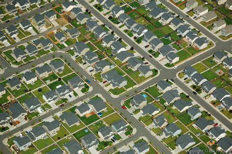 States In America aerial view of suburban neighbourhood