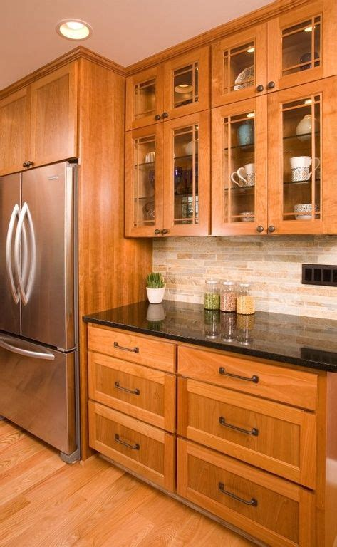 Glass Panel Kitchen Cabinets by Craftsman Kitchen With One Wall Limestone Tile Soapstone