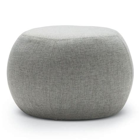 round grey ottoman venus fabric round pouf ottoman in light grey 35cm buy
