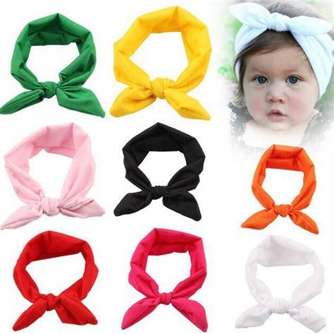 aliexpress buy baby infant turban rabbit ears aliexpress buy 30pcs lot 8 colors top knot headband