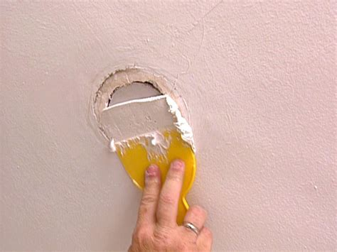Filling Holes In Ceiling Plasterboard by How To Patch A Ceiling How Tos Diy