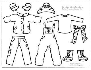 pecorino illustration printable winter dress up boy