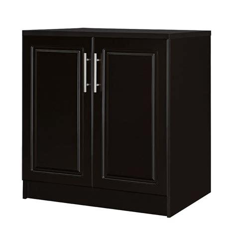 closetmaid 24 in 2 door base cabinet in black 12741 the