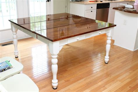 Staining A Kitchen Table Get Inspired Kitchen Table Makeovers How To Nest For Less
