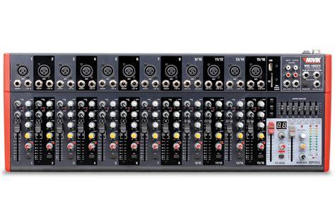 Mixer Nvk mesa de som 16 canais 12 xlr mono 4 est 233 reo usb sd 99