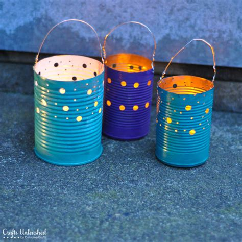 diy crafts with tin cans tin can crafts make your own recycled luminaries