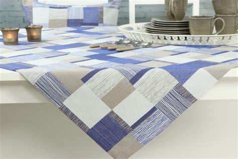 design tischdecke patchwork blau boston ab 80x80 cm bis